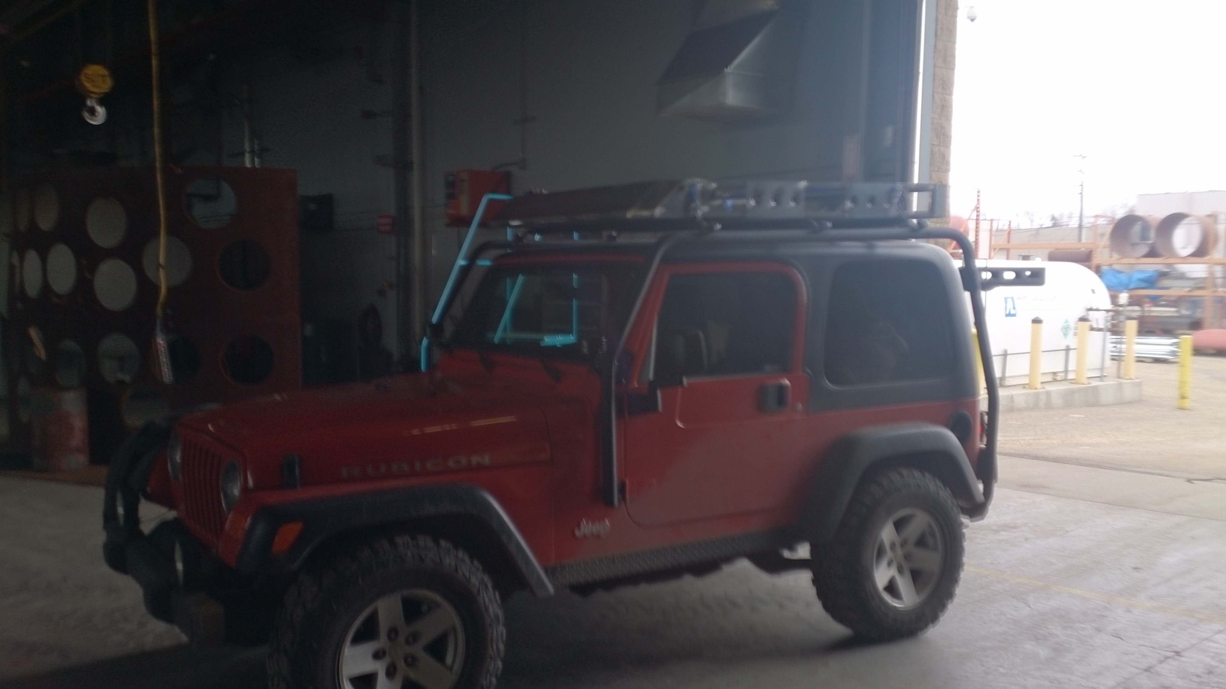 cherokee roof rack inch lift pin tires homemade jeep
